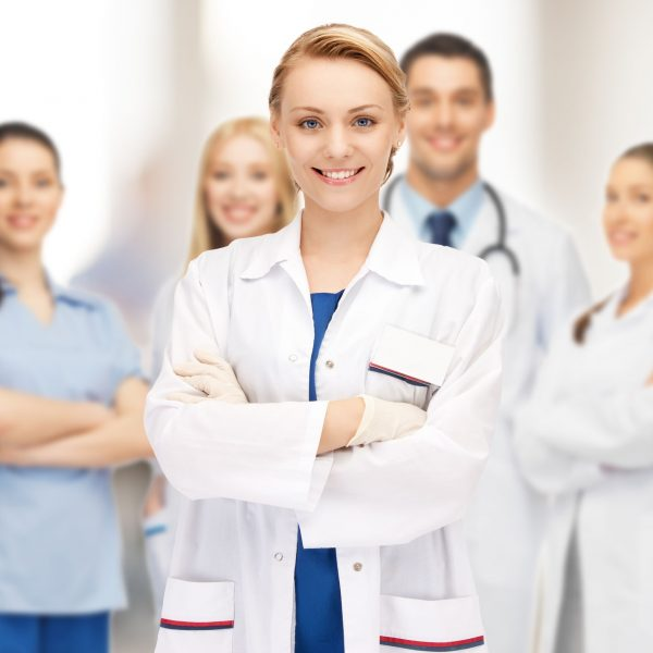 20623546 - bright picture of an attractive female doctor